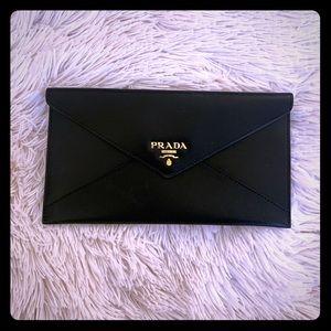 Prada Calfskin Envelope Wallet